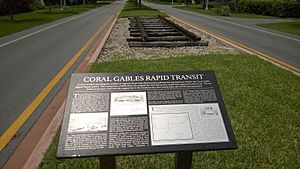 Coral Gables Rapid Transit track n plaque