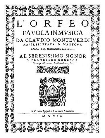 Frontispiece of L'Orfeo