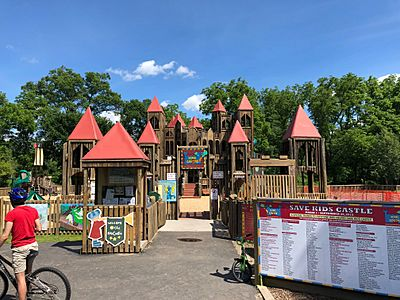 Kid's Castle in Doylestown Central Park