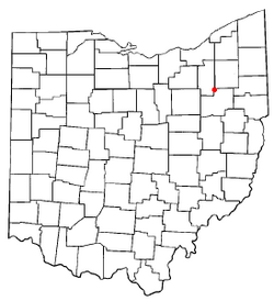 Location of Uniontown, Ohio