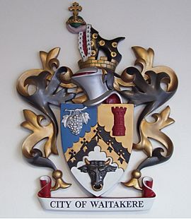 Waitakere city coat of arms