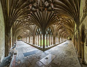 Canterbury Cathedral Cloisters, Kent, UK - Diliff