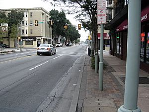 Downtown Ardmore, facing East on Lancaster Ave