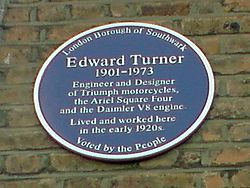 Edward Turner Blue Plaque