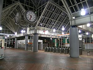 Forest Hills Station at night