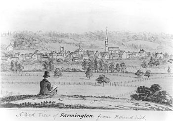 John Warner Barber - Northwest View of Farmington from Round Hill
