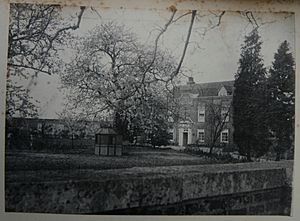 Photograph of Dawley House, Harlington, Middlesex, in the spring of 1902