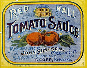 Red Hall Tomato Sauce label (8734617302)