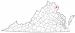 State map highlighting Fairfax