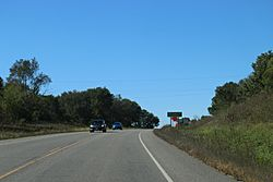 Sign on Wisconsin Highway 60