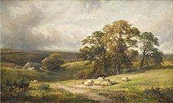 George Turner - A quiet scene in South Derbyshire (1885)