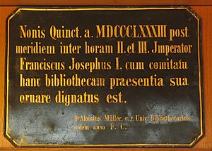Latin plaque 7 Jul 1883