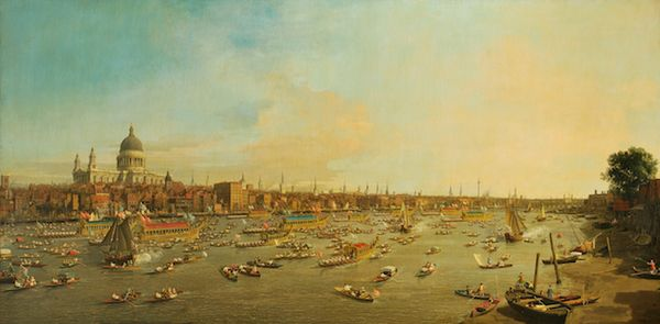 London, The Thames on Lord Mayor's Day, Antonio Canaletto