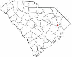 Location of Johnsonville inSouth Carolina