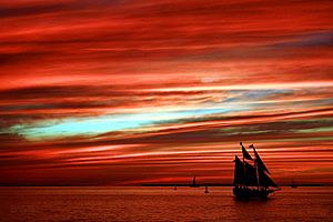 Sunset, Mallory Square, Key West, Florida, USA