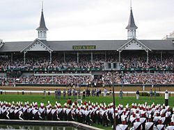 University of Louisville marching band, Churchill Downs Twin Spires