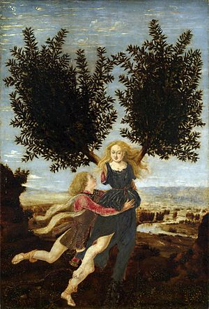 Antonio del Pollaiolo Apollo and Daphne
