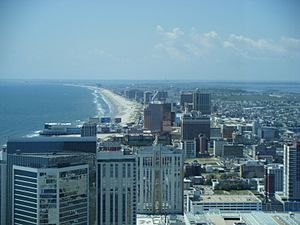 Atlantic City skyline from 47th floor of Revel