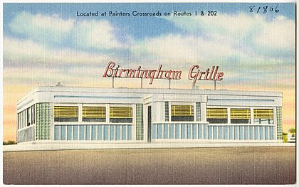 Birmingham Grille, located at Painters Crossroads on Route 1 and 202 (81806)