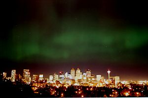 Calgary-Northern lights