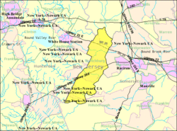 Census Bureau map of Branchburg Township, New Jersey