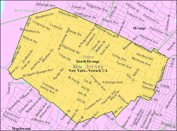 Census Bureau map of South Orange, New Jersey