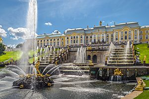 Grand Cascade in Peterhof 01
