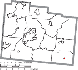 Location of Bowersville in Greene County
