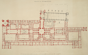 Palace of Westminster plan, F. Crace, high resolution