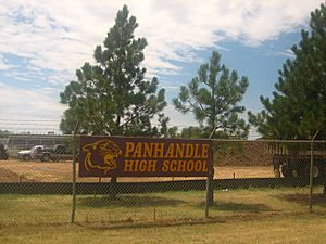 Panhandle, TX, High School sign IMG 0632