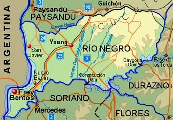 RioNegro Department map