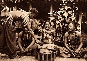 Samoan 'ava ceremony, c. 1900-1930 unknown photographer