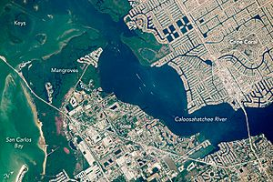 ISS047-E-84351 Cape Coral, Florida (annotated)