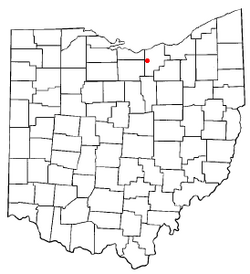 Location of Kipton, Ohio