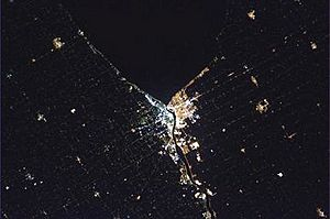 Sarnia at Night from Space