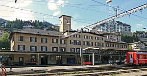 St Moritz train station