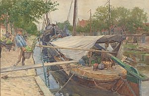 The Market Boat-1901-William Rainey-By Courtesy of National Gallery of Victoria, Melbourne