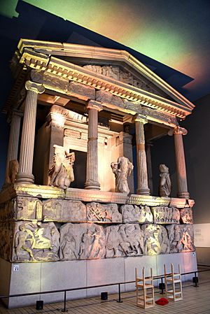 The Nereid Monument. From Xanthos (Lycia), modern-day Antalya Province, Turkey. 390-380 BCE. Room 17, the British Museum, London