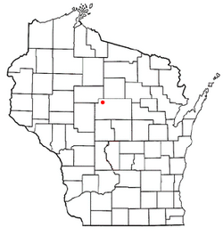 Location of Athens, Wisconsin