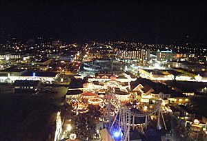 Wildwood night view from Mariner's Landing ferris wheel