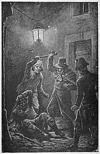 05 Robespierre saved from the assassins-Illust by Johan Schonberg for In the Reign of Terror by G A Henty