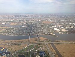 Looking east to Hackensack River and Secaucus