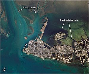 Key west from iss