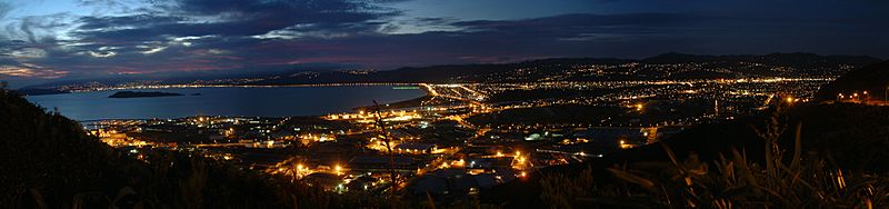 Lower Hutt Panorama at night