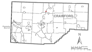 Location of Venango in Crawford County