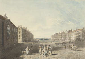 Queen Square, London 1786 by Edward Dayes