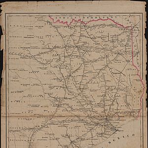 Railroad Map of Texas East of the 100th Meridian