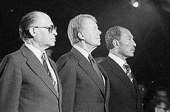Begin, Carter and Sadat at Camp David 1978