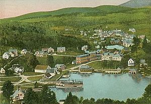 Bird's-eye View, Sunapee Village, NH