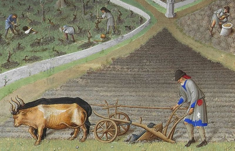Detail of Les tres riches heures - March